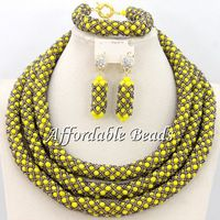 Hot Sale Nigerian Jewelry Set Pretty African Fashion Jewelry Sets Unique Handmade Wholesale BN220