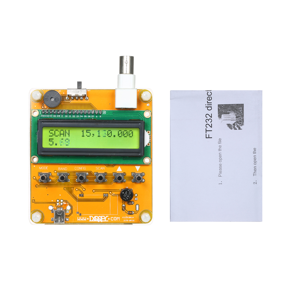Digital Shortwave Antenna Analyzer Meter Tester for Ham Radio Q9 1~60M 1 x yellow ccl mr100 digital shortwave antenna analyzer tester 1 60m for ham radio q9