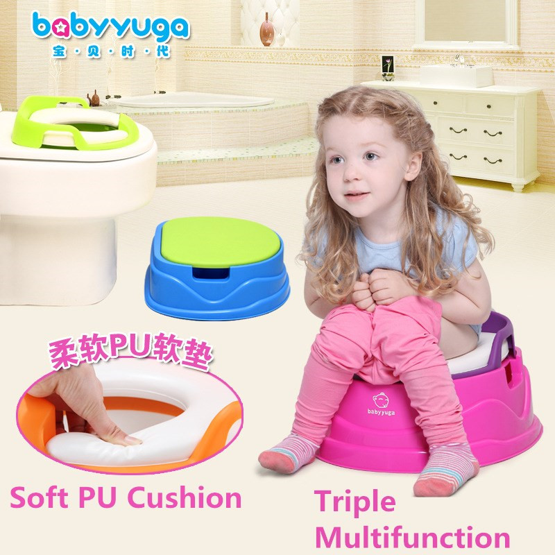 Colorful Multifunction Children potty kid carry toilet chair with wheel portable potty baby travel potties toilet seat for child