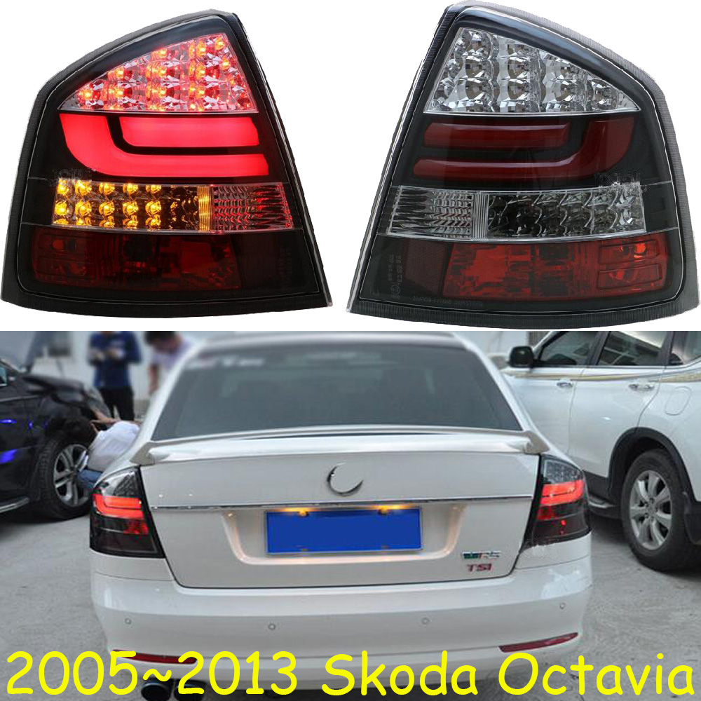 car accessories Styling for Skoda Octavia Tail Lights 2004~2013year LED Tail Light Rear Lamp LED DRL Singal Car Lights