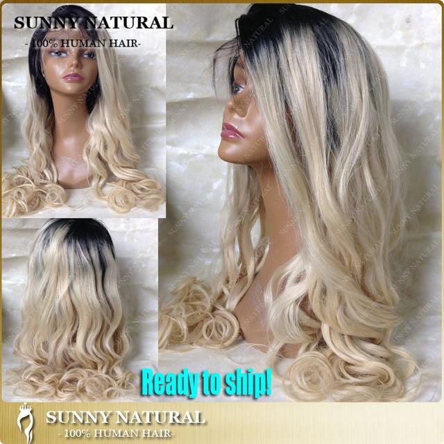 Dark Roots Blonde Hair Wig 26 28 30 Inch Long Blonde Wig 1b613