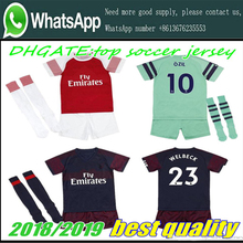 c66612170 AAA+2019 Arsenal soccer jersey 18-19 kids suit +socks AUBAMEYANG MKHITARYAN  OZIL · 16 Colors Available