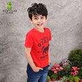 KAMIWA 2017 Novos Meninos de Verão T-shirt Da Forma do Algodão Curto O-neck Camisetas Adolescente Roupas Roupa Dos Miúdos das Crianças Freeshipping