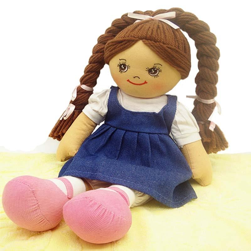 Smafes 18 pouces jumeaux poupée jouet chiffon poupée bébé né pour les filles avec le chiffon de cheveux doux en peluche enfants poupée bithday cadeau de poupée de Noël