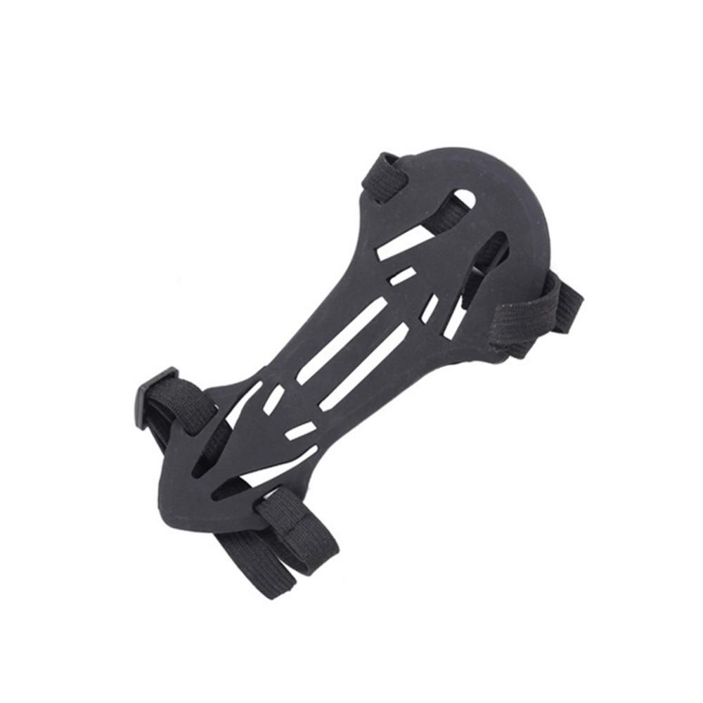 Bow Archery Arrow Armguards Soft Rubber 2 Strap Shooting Target Forearm Protector Archery Arm Guard Protection Safe Strap