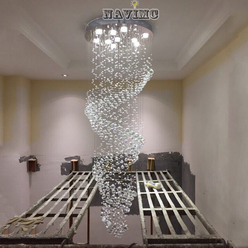 techo glass de project lights luxury long lamparas for stair and cristal from in ceiling fixture lighting light lustres item hotel lamp modern