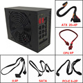 Mute 90 gold asic bitcoin mining 1600W Modular PC Power Supply ATX Source PWM for Graphics card RX470 570 580 1080 LTC XMR ETC