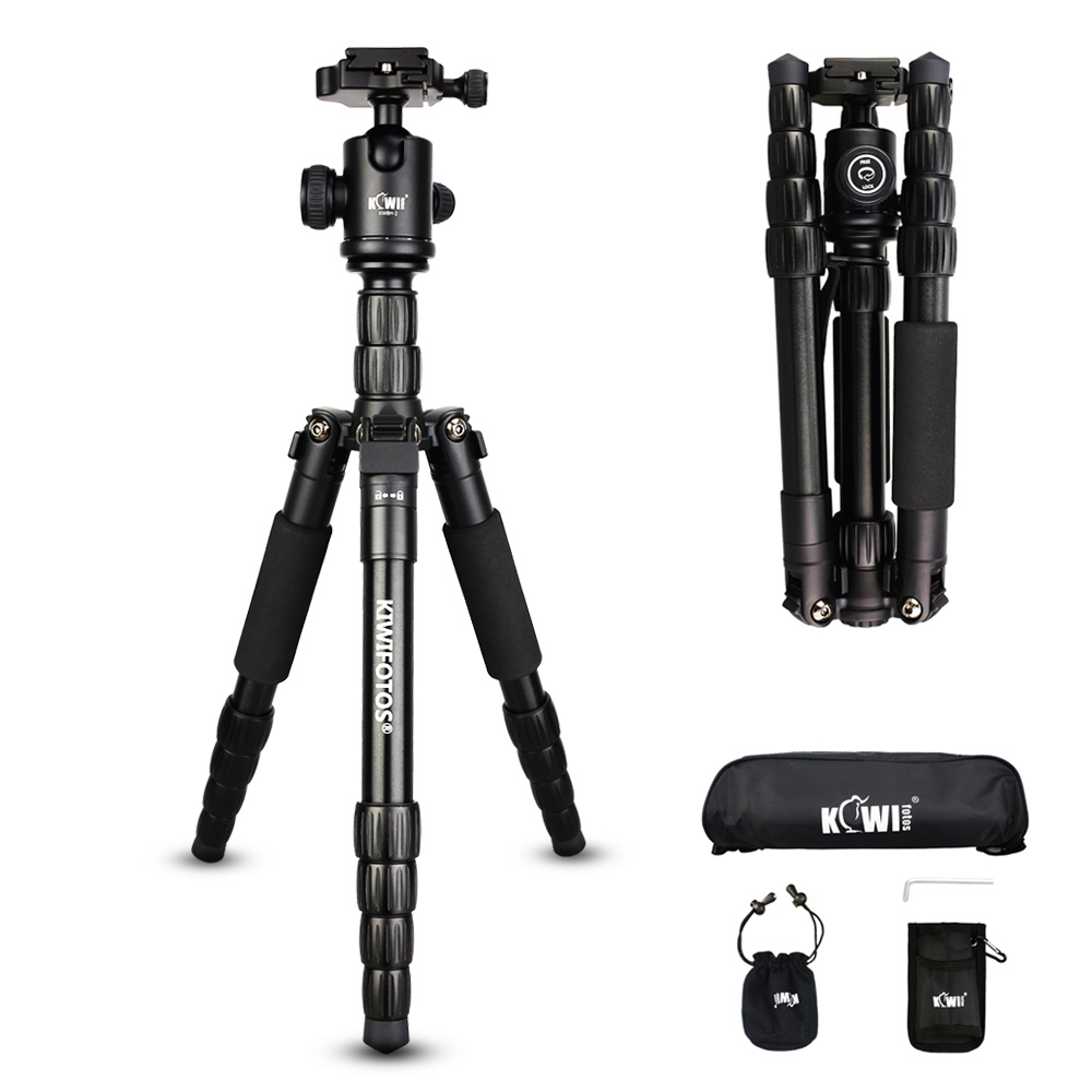 Kiwi KTB-1585 Pro Portable Lightweight Durable Hydronalium Tripod Monopod & Ball Head SLR Camera Tripod Fold 35cm Max Load: 15kg craghoppers women s kiwi pro stretch short