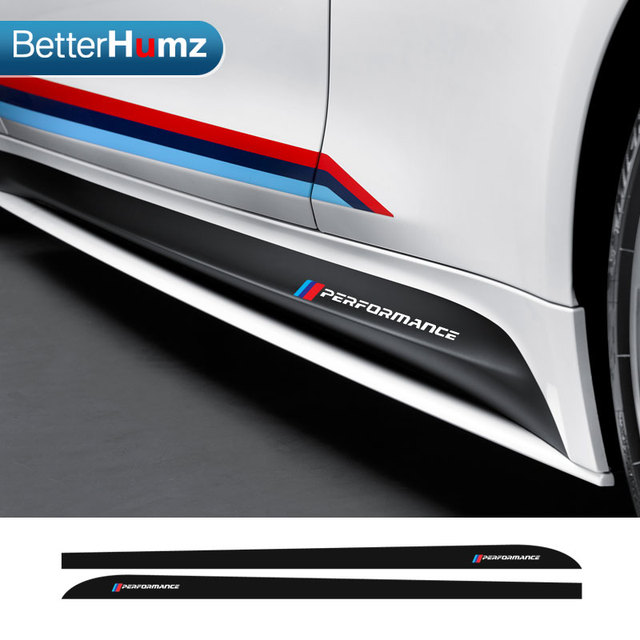Car Styling Accessories m performance side skirt sticker body decals ...