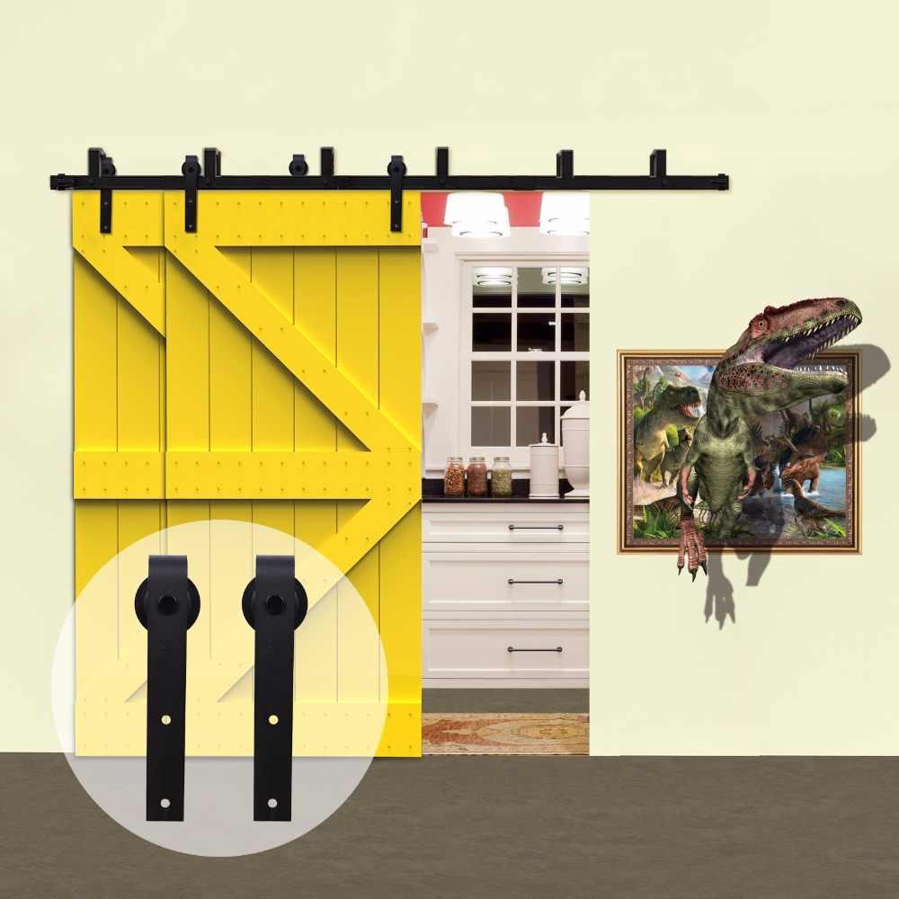 Lwzh страна стиль деревенские деревянные двери обход системы