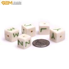5 шт., бусины с английским алфавитом для украшений