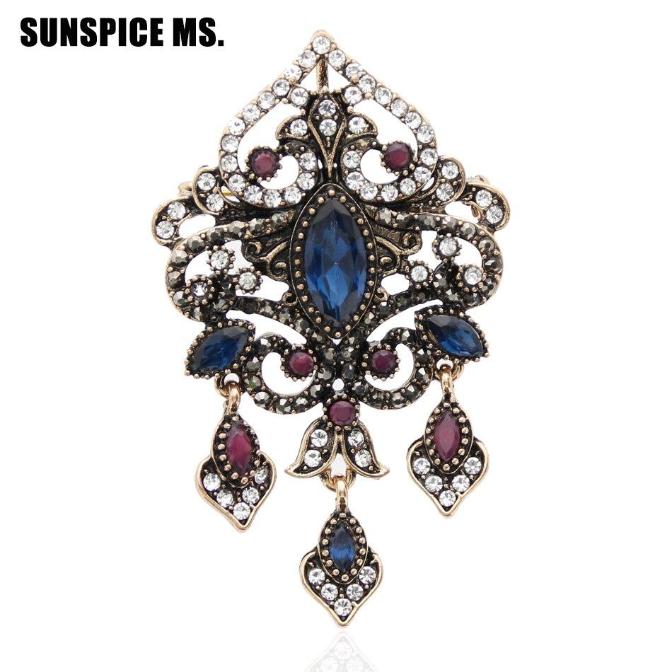 Fine Jewelry Romantic Broche Antiguo Redonda De Oro Precious Metal Without Stones