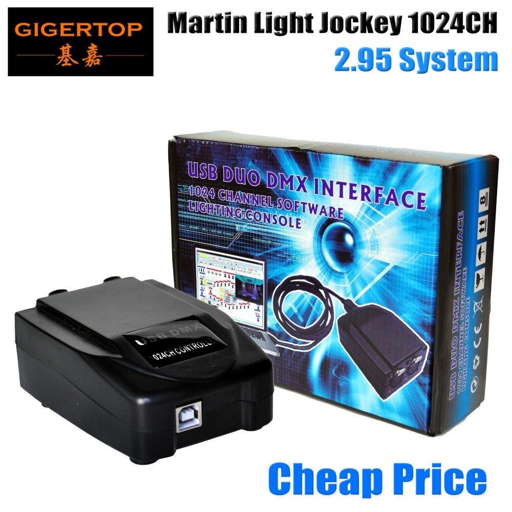 Cheap Price Martin Light Jockey USB 2.95 DMX Interface 1024 Channel Software Lighting Console USB-DMX PC 3D Lighting Effect Live