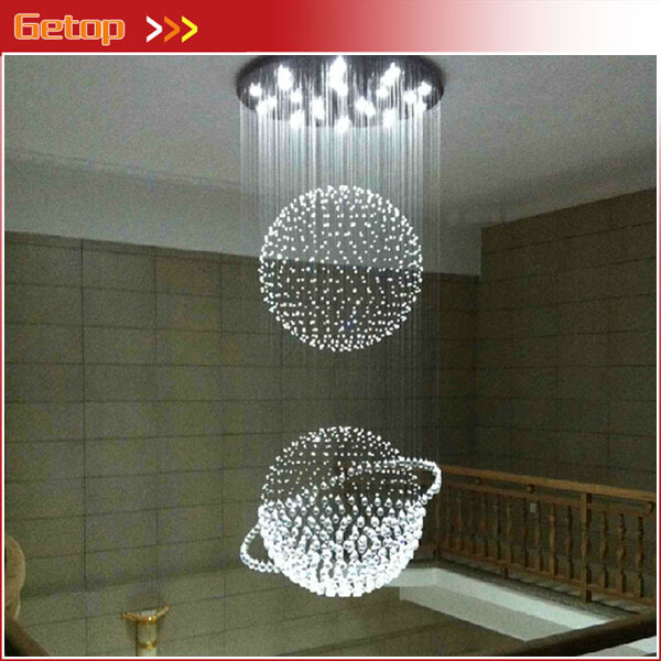 Best Price Modern Luxury LED Crystal Lamp Duplex Staircase K9 Crystal Lights Villa Engineering Lights Crystal Pendant Lights best price 5pin cable for outdoor printer