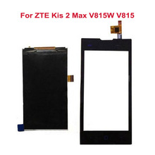 Negro de la pantalla táctil para zte kis 2 max v815w v815 + pantalla lcd digitalizador del sensor de cristal panel smartphone repairtment