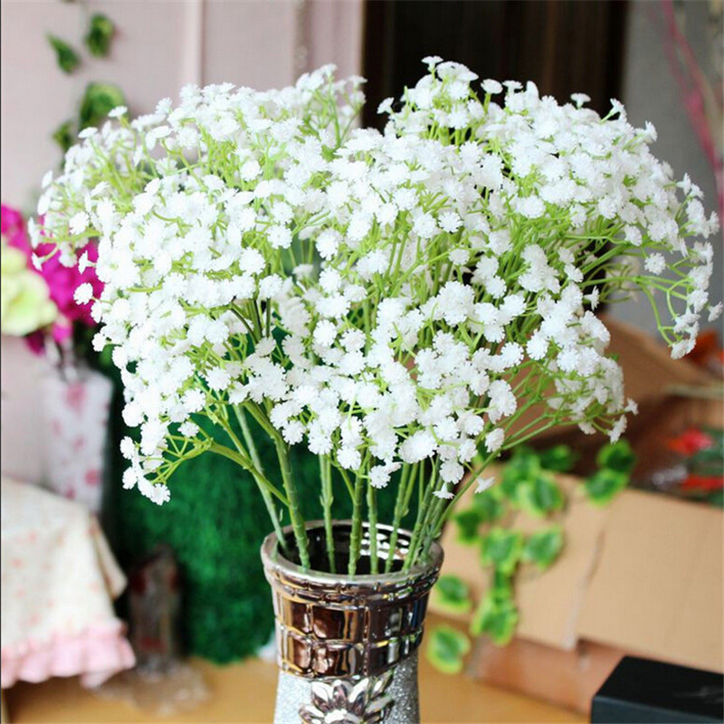home wedding decoration pretty 6pcslot gypsophila babys breath artificial fake silk flowers plant
