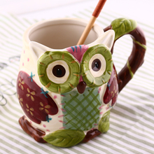 700ml Large Capacity Ceramic Cat Cup Hand Painted 3D Owl Cartoon Animal Office Water Cute Milk Breakfast Cups and Coffee Mug
