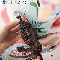CAJIFUCO Crocodile Leather Key Wallet Car Holder