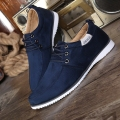 men shoes man casual shoes spring/autumn men zapatos  Suede Leather Flat Lace-up breathable Casual Shoes brand zapatillas y49