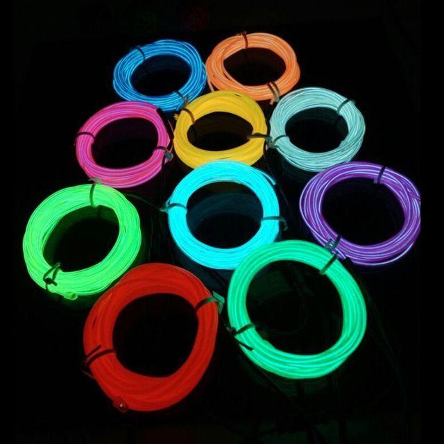 5 Mt Dance Party Decor Neon Licht Led streifen El drahtseil schlauch ...