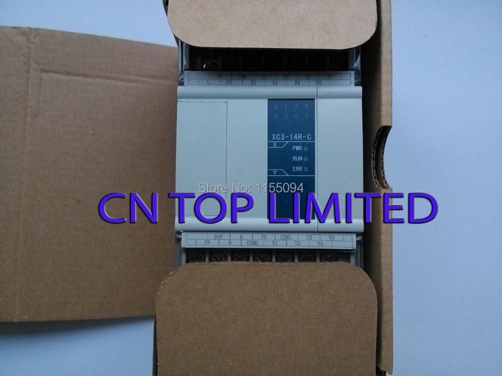 XC3-14R-C XINJE PLC CPU DC24V 8 DI NPN 6 DO Relay  with  programming cable & software New xc3 24r c plc cpu dc24v 14 di npn 10 do relay with new original