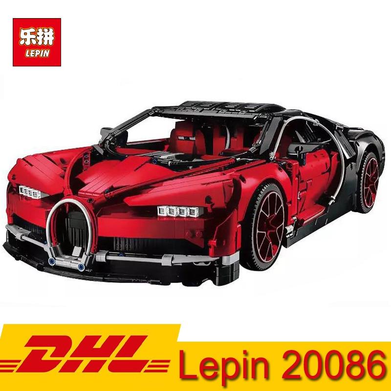 (En stock) DHL Lepin 20086 4031 pièces Série Technique Supercar Bugatti Voiture blocs de construction Briques Jouet Compatible LegoING 42083