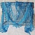 Женская Мода Кружева Выдалбливают Цветочные Вязание Крючком Шарфы Кисточкой Длинные Шарфы Стиль Дамы Треугольные Wrap Solid Глушитель Шаль S1094