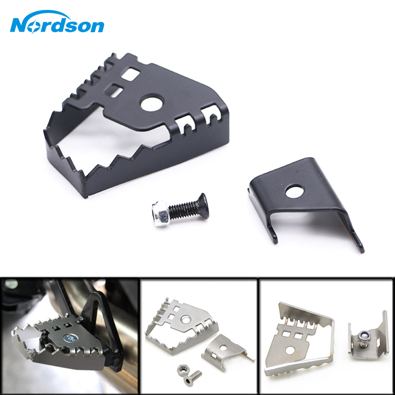 Nordson Motorcycle Brake Lever Extension Rear Brake Peg Pad Enlarge Extender For <font><b>BMW</b></font> F800GS F700GS F650GS F 800 700 <font><b>650</b></font> GS image