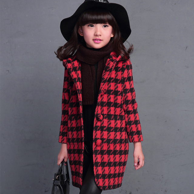 Winter children's clothing grils child woolen outerwear children autumn and winter woolen clothing coat
