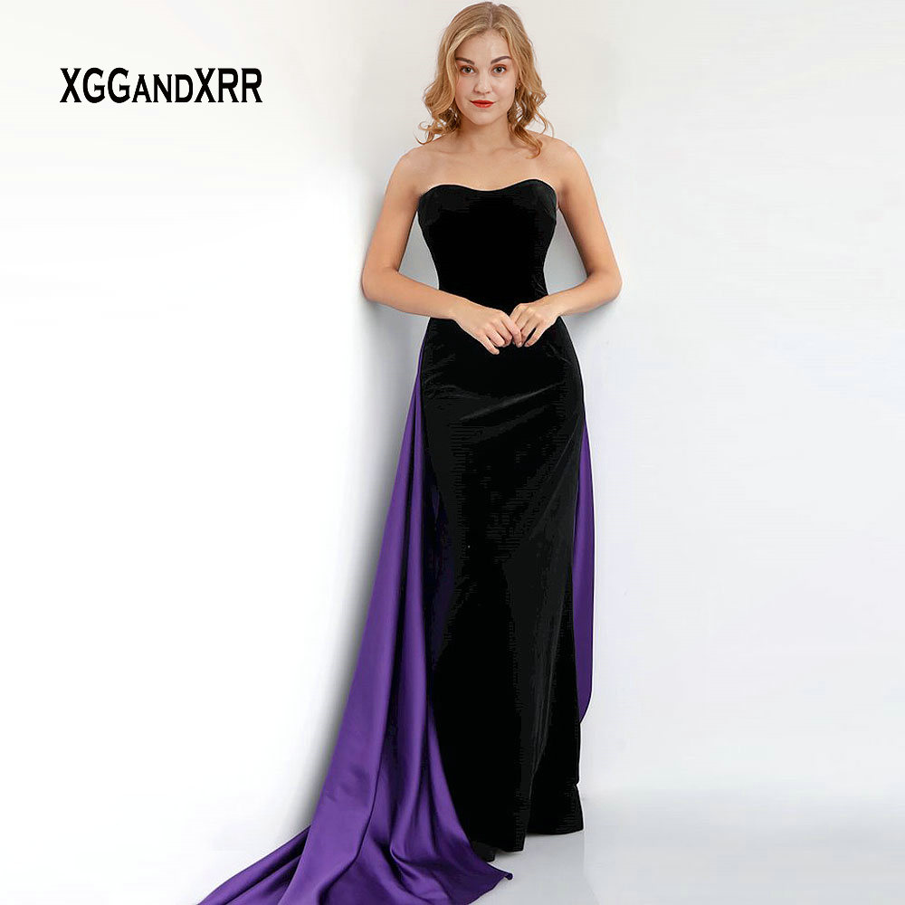 c62fe88ad05 ... Elegant Mermaid Evening Dress Long Prom Dress 2019 Sweetheart off  Shoulder Sexy Backless Black and Purple ...