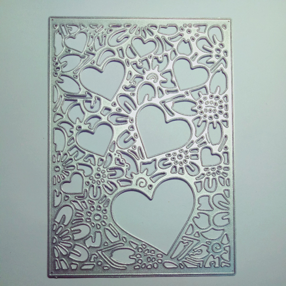 Aliexpress.com : Buy Hearts Embossing Stencil Molds Metal