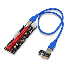 Image 5 - 4pin 6pin SATA Power PCI Express 16X بطاقة فتحة رايزر USB 3.0 PCI E PCI Express 1x إلى 16x PCIE Riser للتعدين بيتكوين BTC التعدين