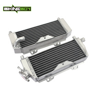 BIKINGBOY 2Pcs Aluminium MX Offroad Supermoto Water Cooler Cooling Engine Radiators For Kawasaki KX 250 KX250