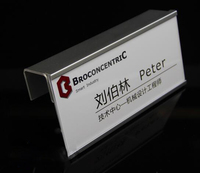 Aluminium Alloy Label Name Card Holder Frame Hook Single