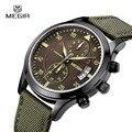 Megir 2017 novos homens de relógios de luxo homens de negócios relógios homens esportes militares relógio de quartzo masculino relógios de pulso relogio masculino