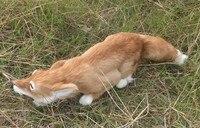 big simulation fox toy plastic&fur beautiful yellow fox doll gift about 60x11cm 2085