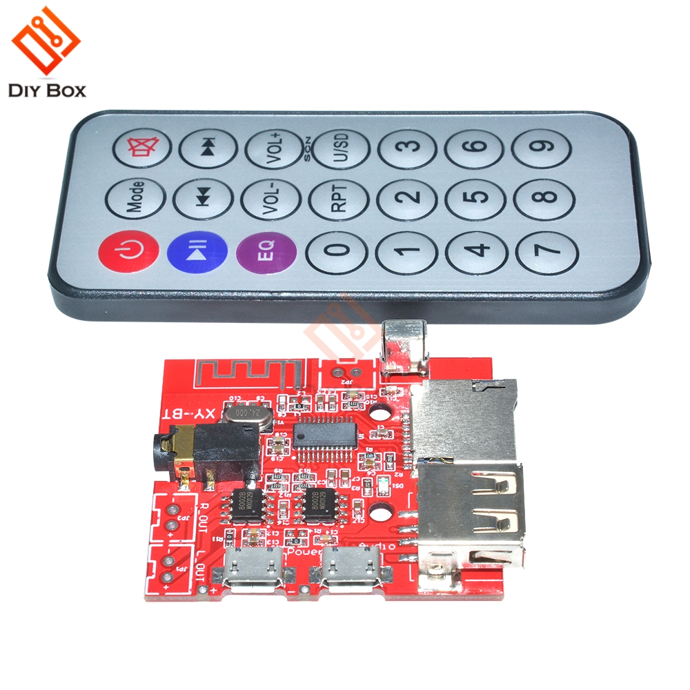 Audacious Car Bluetooth 4.1 Mp3 Wav Decoding Board 3w Speaker Amplifier Audio Receiver Module Support Usb/tf/u-disk/ir Remote Control Handsome Appearance