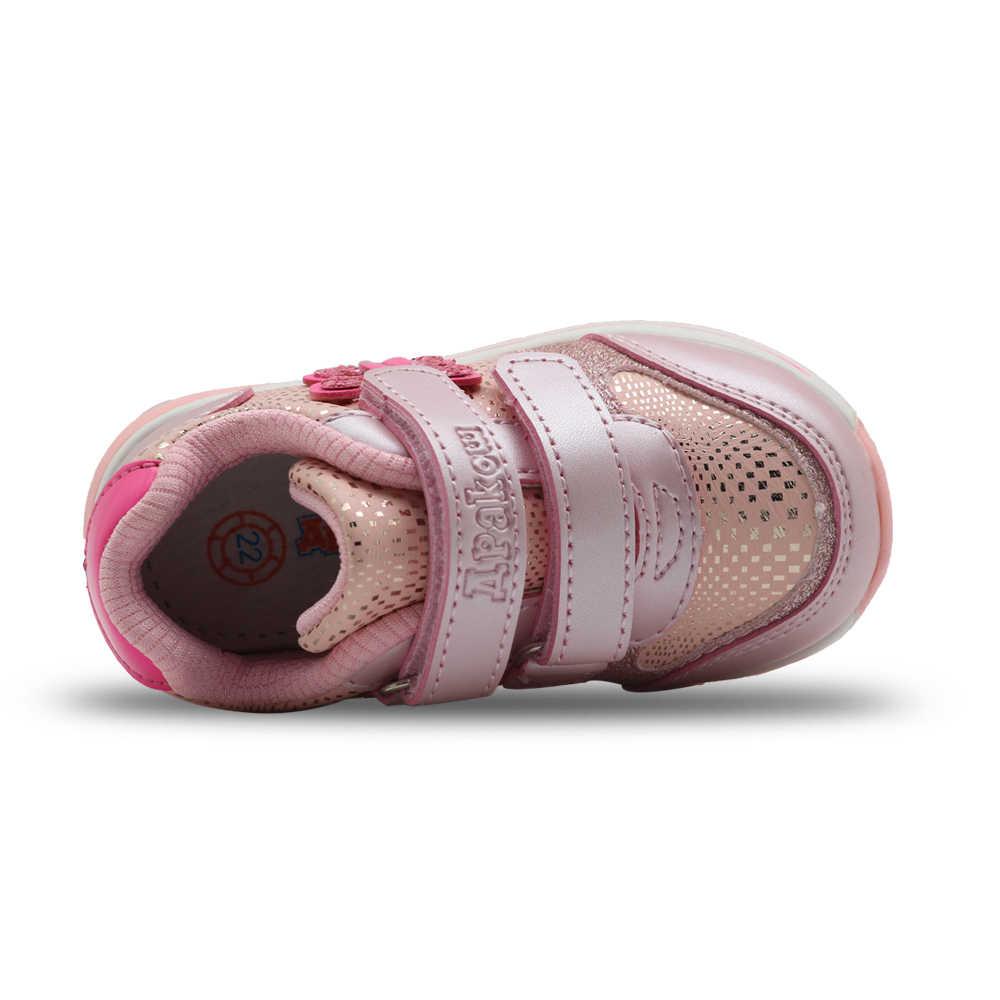 Apakowa กีฬาหญิงรองเท้าเด็กรองเท้าฤดูใบไม้ผลิใหม่ Breathable Pu หนังแฟชั่นเด็ก Anti-ลื่นรองเท้าผ้าใบเด็กวัยหัดเดินรองเท้า