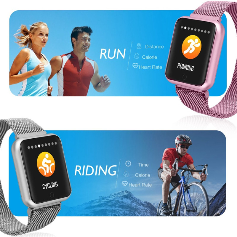Image 4 - Smart Watch P68 Sports IP68 fitness bracelet activity tracker heart rate monitor blood pressure for ios Android apple iPhone 6 7-in Smart Watches from Consumer Electronics