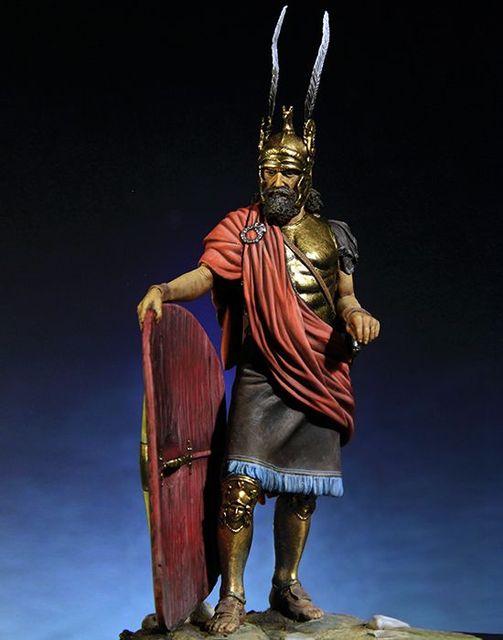 1/18 90 MM עתיקות גבורה Tracian לוחם איש שרף איור דגם ערכות מיניאטורות gk Unassembly לא צבוע