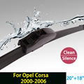 """Limpiaparabrisas para Opel Corsa (2000-2006, Hatchback y Van) 20 """"+ 18"""" fit estándar J brazos del limpiaparabrisas hook sólo HY-002"""