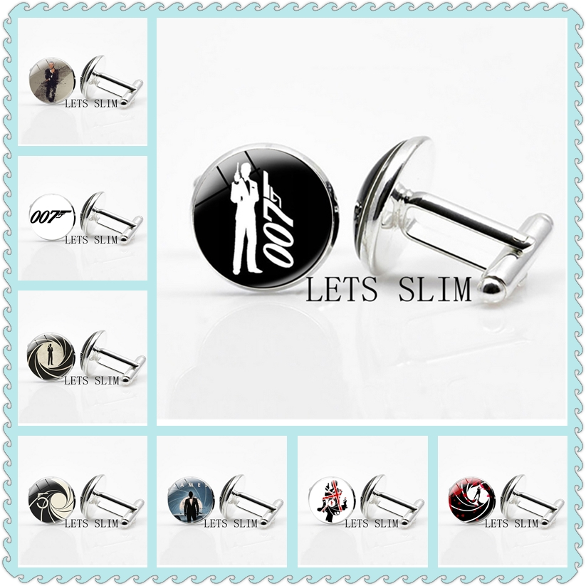 Select Gifts Heart Playing Card Number 7 Cufflinks /& James Bond Money Clip