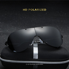 2017 HD Polarized Men Sunglasses Women Black Rimless Glasses Driver Folding Big Sun Glasses oculos de sol Vintage Driving Eye