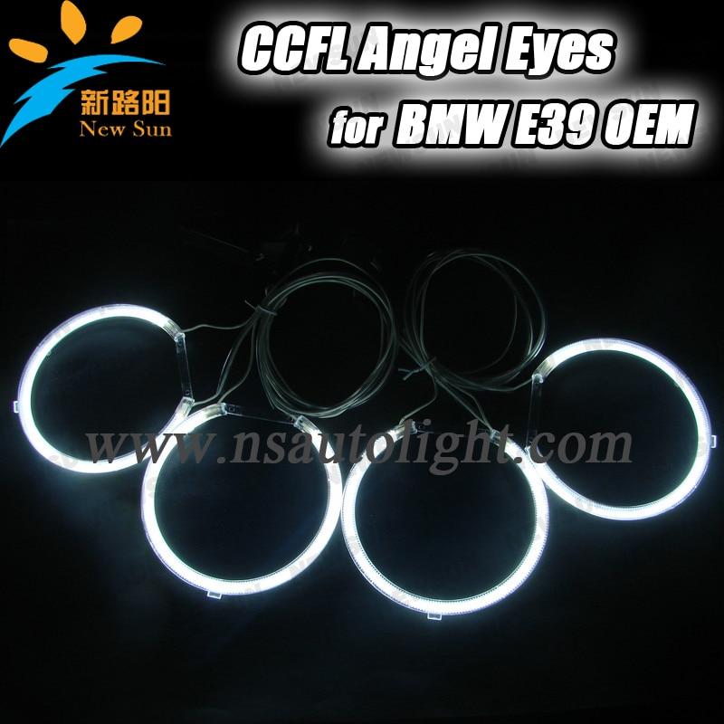 E39 OEM ccfl angel eyes ring kit car auto ccfl halo ring bulb for bmw e39 ring headlight 127mm white blue yellow for e36 e39 e46 halo ring ccfl angel eye kit projector type 7000k white lamp ca053