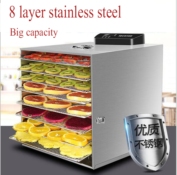 8 Layer Professional Electric Dehydrator Fruit Food Dryer Stainless Steel Food Fruit Vegetable Pet Meat Air Dryer Machine8 Layer Professional Electric Dehydrator Fruit Food Dryer Stainless Steel Food Fruit Vegetable Pet Meat Air Dryer Machine