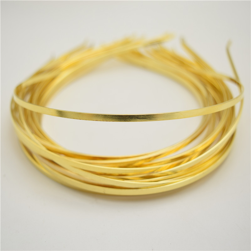 50 WHOLESALE LOT GOLD METAL HEADBAND HAIR ACCESSORY 5mm