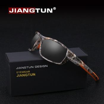 360c5ce2c1 JIANGTUN moda caliente Camo negro polarizado Gafas de sol hombres mujeres  marca diseñador Gafas de sol UV400 conducción Gafas
