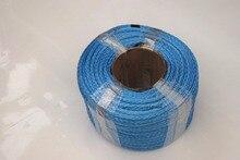 Azul 6mm * 100m 12 strand corda sintética, cabo do guincho atv, 12 linha do guincho de plait 6mm, cordas de reboque, corda do guincho do plasma