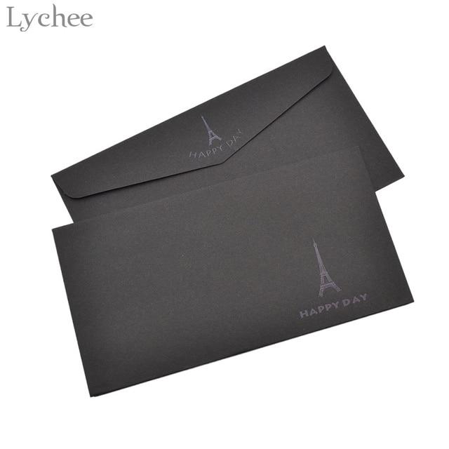 열매 5 개 블랙 브론 징 우아한 봉투 종이 공예 포스트 카드 수건 전화 부스 패턴