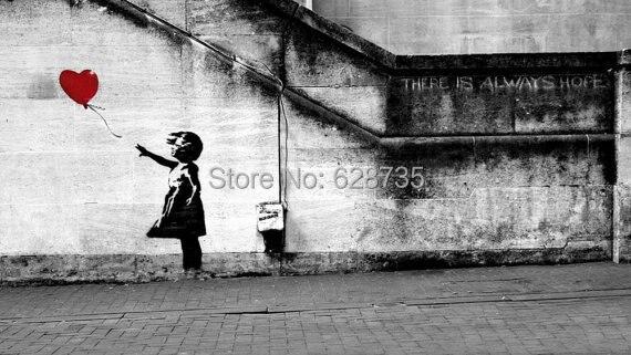 Banksy Wall Decal, Balloon Girl Inspired - Banksy Vinyl Wall Art ...